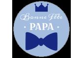 Étiquette Bonne fête papa cercle bleu