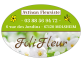 Étiquette fleuriste ovale fond vert
