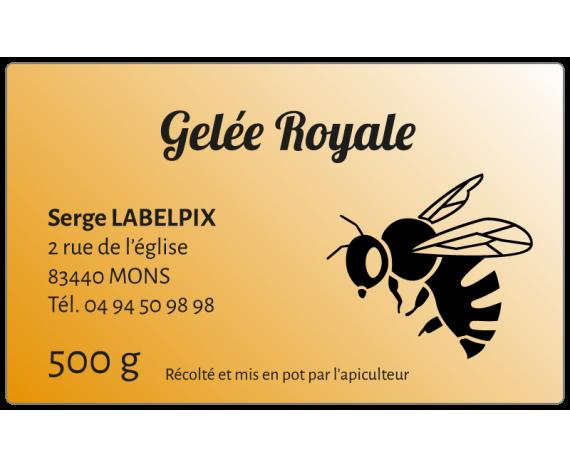 Étiquette miel gelée royale fond dégradé à personnaliser