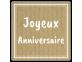 étiquette joyeux anniversaire papier kraft