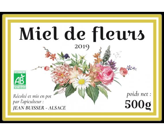 autocollant Miel de fleurs 2019