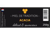étiquette autocollante Miel de tradition Acacia
