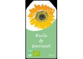 Étiquette huile de tournesol à personnaliser