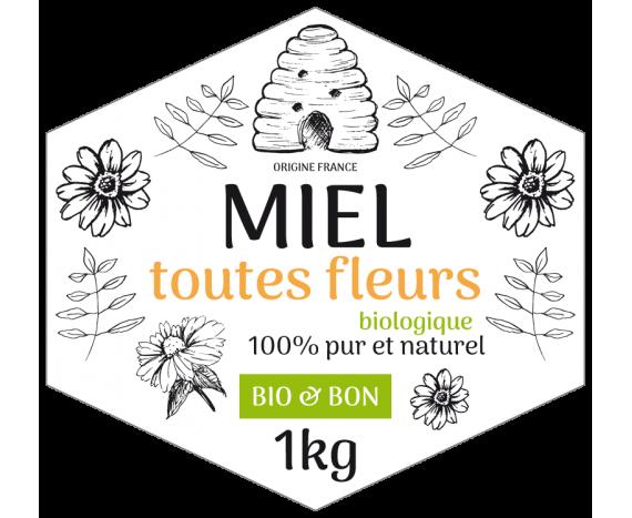 Miel toutes fleurs 100% pur et naturel