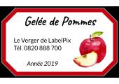 Étiquette gelée de pommes liseret rouge