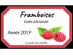 Étiquette de gelée artisanale framboises