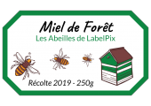 Miel de forêt les abeilles de LabelPix