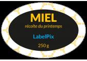 Étiquette ovale miel récolte du printemps