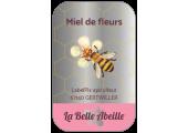 Étiquette miel de fleur effet argent