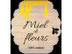Étiquette miel de fleurs forme ruche