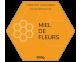 Étiquette hexagone miel de fleurs
