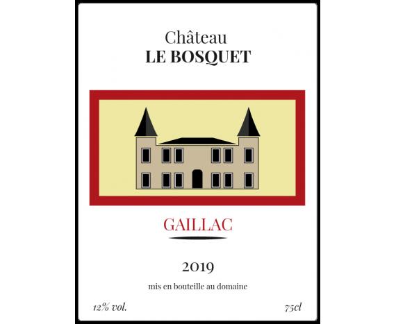 Autocollant pour bouteille de vin - Le bosquet Gaillac