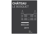 Étiquette bouteille vin moderne château