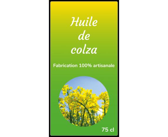 étiquette huile colza verte jaune