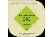 Étiquette jus de pomme vert bio géométrique