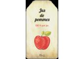 Étiquette jus de pommes style ancien