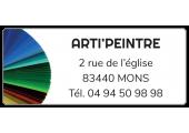 Étiquette adresse Arti'peintre