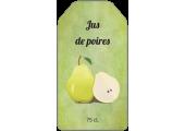 Étiquette jus de poires avec fond vert à personnaliser
