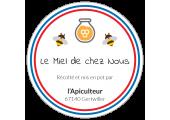 étiquette ronde miel de chez nous