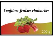 Confiture fraises rhubarbes - étiquette personnalisable