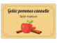 Gelée pommes cannelle - étiquette à personnaliser en ligne