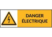 Danger électrique - étiquette prête à l'emploi