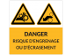 Autocollant Danger risque d'engrenage ou d'écrasement