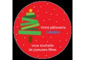 "Macaron ""Joyeuses fêtes"" à imprimer"