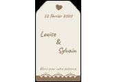 étiquette vin vintage pour mariage