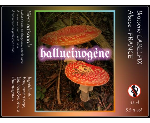 Étiquette de bière champignons à personnaliser