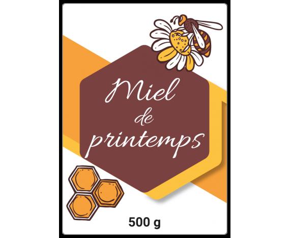Miel de printemps - autocollant à personnaliser