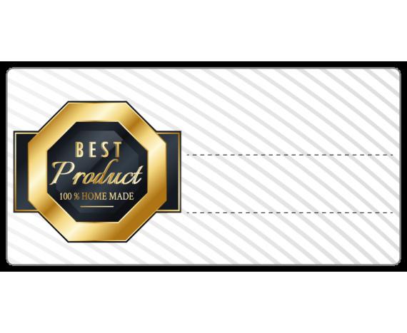 """Étiquette à compléter """"Best Product 100% home made"""""""