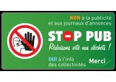 étiquette autocollante stop pub
