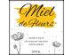 Étiquette miel de fleurs carrée
