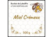 Miel crémeux 500 g - étiquette personnalisable