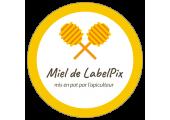 Sticker circulaire miel de Labelpix - cuillères à miel