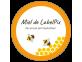 Autocollant circulaire miel de LabelPix contour orange