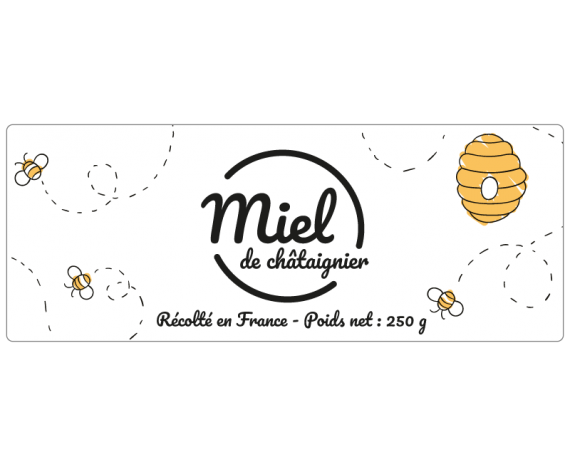 Étiquette miel de châtaignier à personnaliser