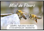 Autocollant miel de fleurs image en arrière plan