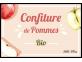 Confiture de pommes BIO - étiquette à personnaliser