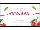 Étiquette adhésive confiture de cerises