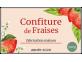 Confiture de fraises - étiquette à personnaliser