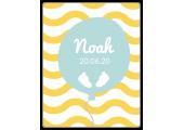 """Étiquette adhésive rectangulaire pour baptême """"Noah"""" à personnaliser"""