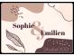 """Étiquette mariage """"Sophie & Émilien"""" à personnaliser"""