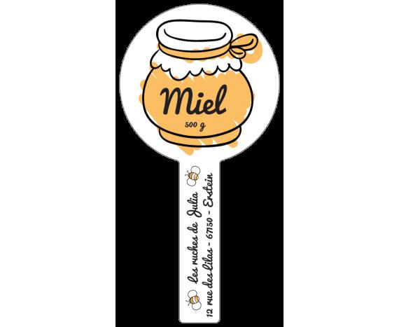 Étiquette scellée - Miel 500 g