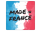 """Sticker """"Made in France"""" - fond aquarelle"""