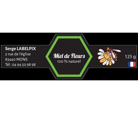 Miel de Fleurs 125g - étiquette à personnaliser
