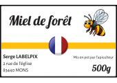 Autocollant miel de forêt français à personnaliser