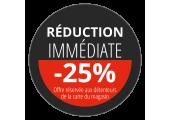 Étiquette Réduction immédiate 25%