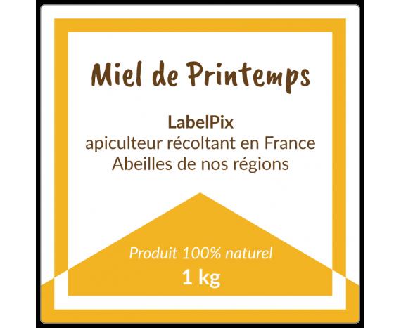 Miel de Printemps 1 kg bicolore à personnaliser